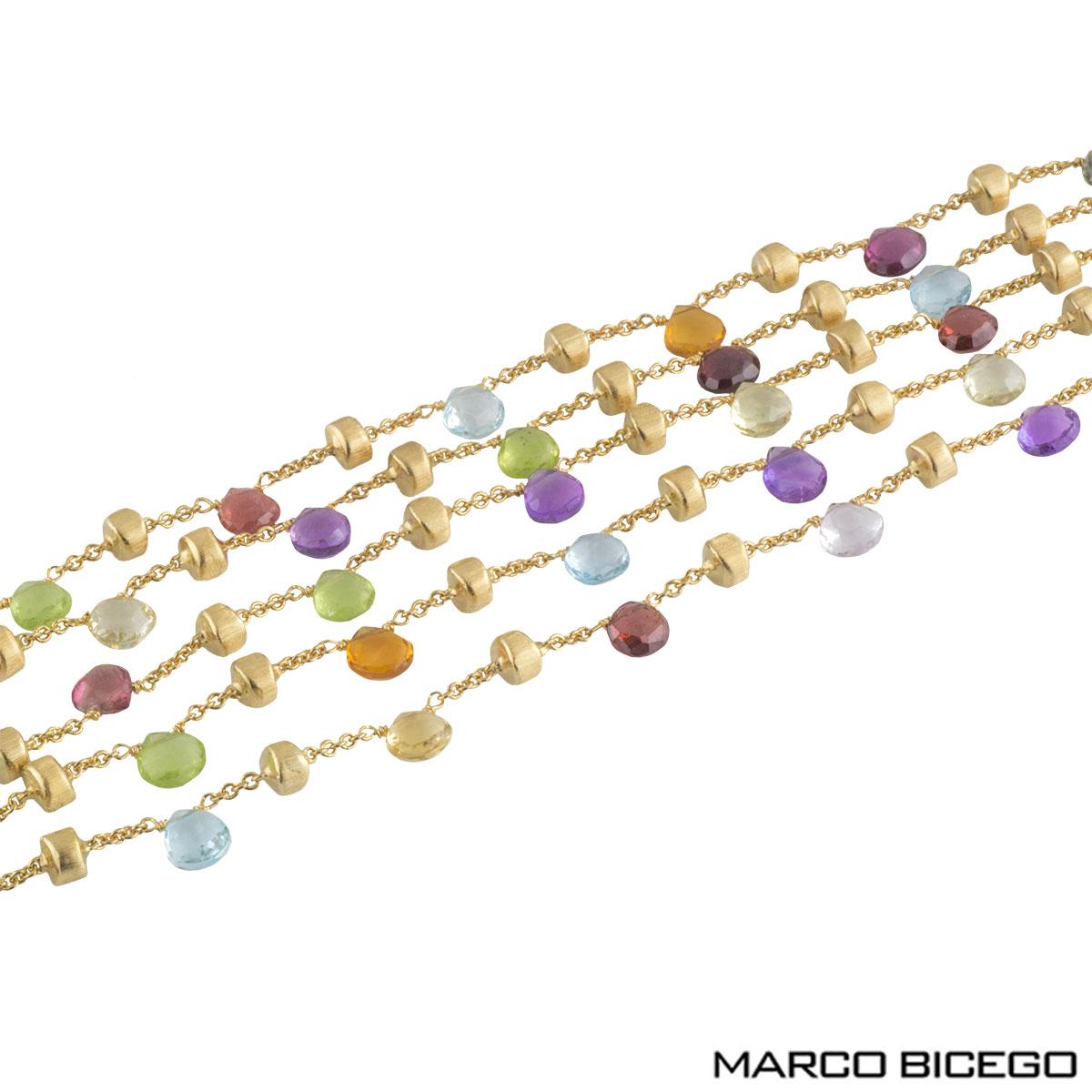Marco Bicego Multi-Gemstone Paradise Bracelet BB2010 MIX01 Y